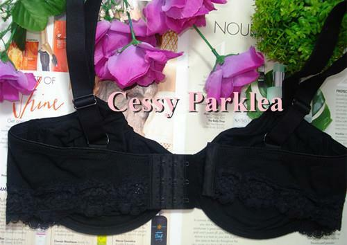 """Euro /""""bpc/"""" Black Cotton Non-padded Stretchy Cups Wire Bras"""