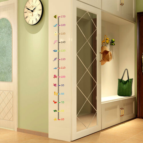 Fashion Animals Wall Sticker Kids Baby Height Chart Measurement Decal Removable