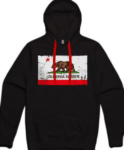 New KIDS California Republic Flag Hoodie All Sizes Sweatshirt Sweater Cali Bear