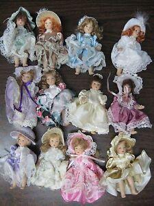 12 Miniature dolls 45 inch Lot Regency Vintage Look No Box - Hollywood, Florida, United States - 12 Miniature dolls 45 inch Lot Regency Vintage Look No Box - Hollywood, Florida, United States