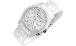 eac7713e Details about New Mens Emporio Armani AR1403 Ceramic White Watch -- FREE  WARRANTY!!
