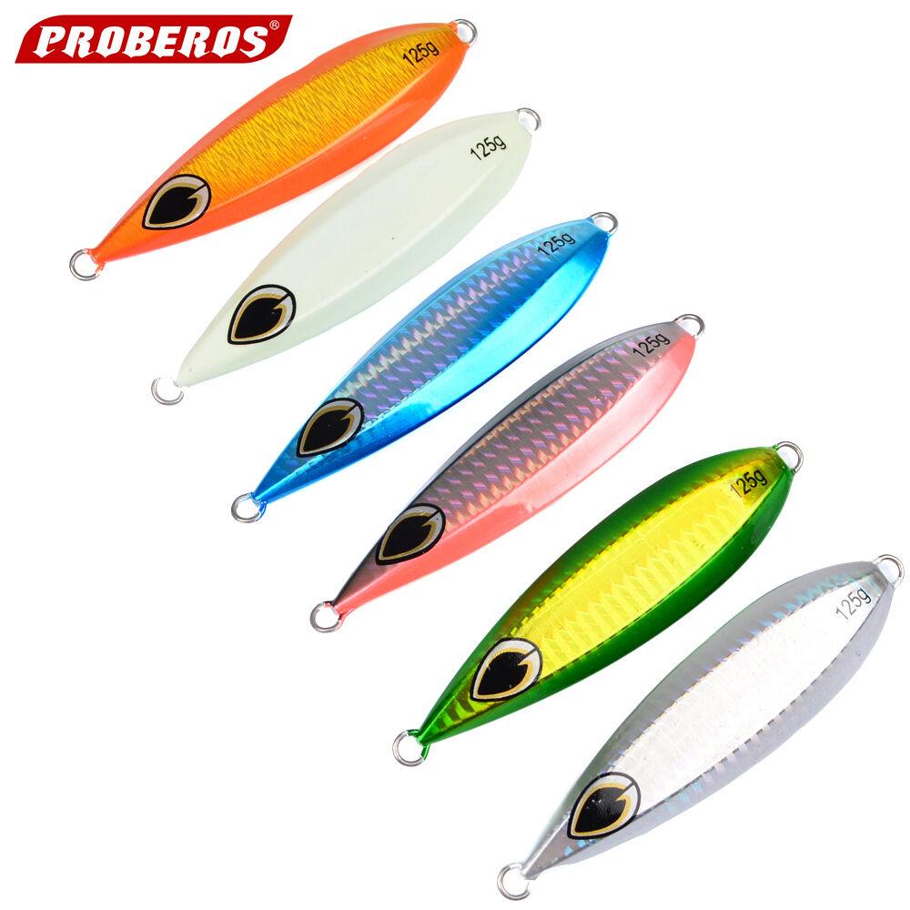 Lot Of 6 Slow Jigs Saltwater greenical Fishing Metal Lures 125 gr 4.4 Oz 10.5 Cm