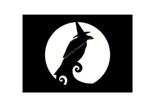 Halloween Stencil Crow Party A5//A4//A3//A2//A1//A0 350 µ Hall 032