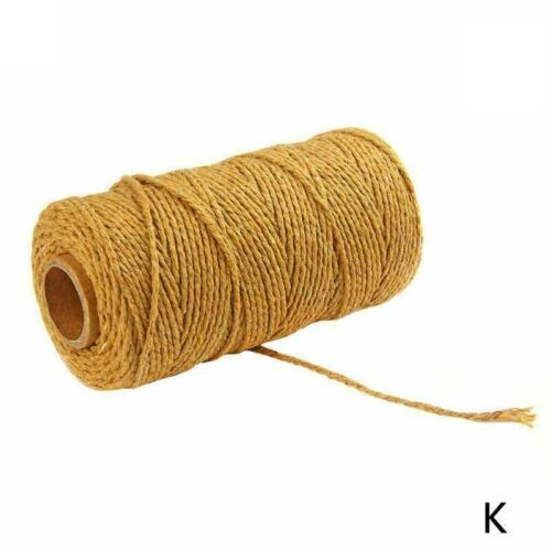 1*2mm Rope Cotton Twisted Cord Hand Craft String DIY Decor Home Supply BEST G0Q7