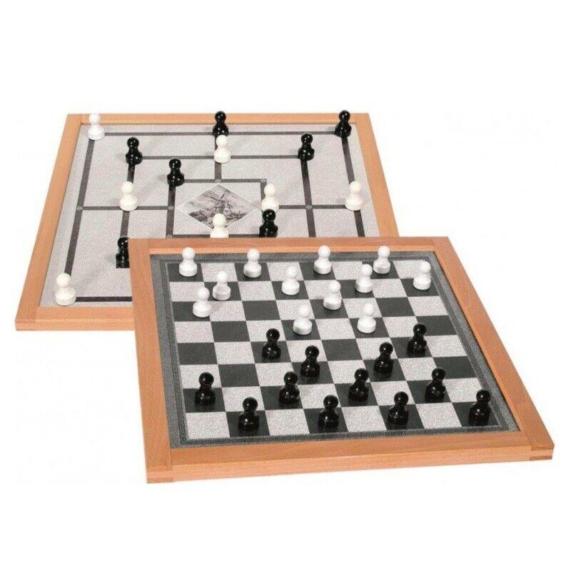 Dama y molino imán juego 50x50 cm magnético en el marco de madera 5031