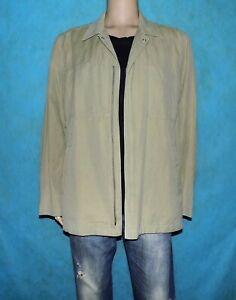 veste-chemise-mi-saison-LACOSTE-en-coton-et-lin-beige-taille-54-super-etat