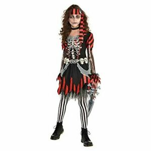 Amscan-Girls-Skele-Punk-Pirate-Costume-Small-4-6-Black