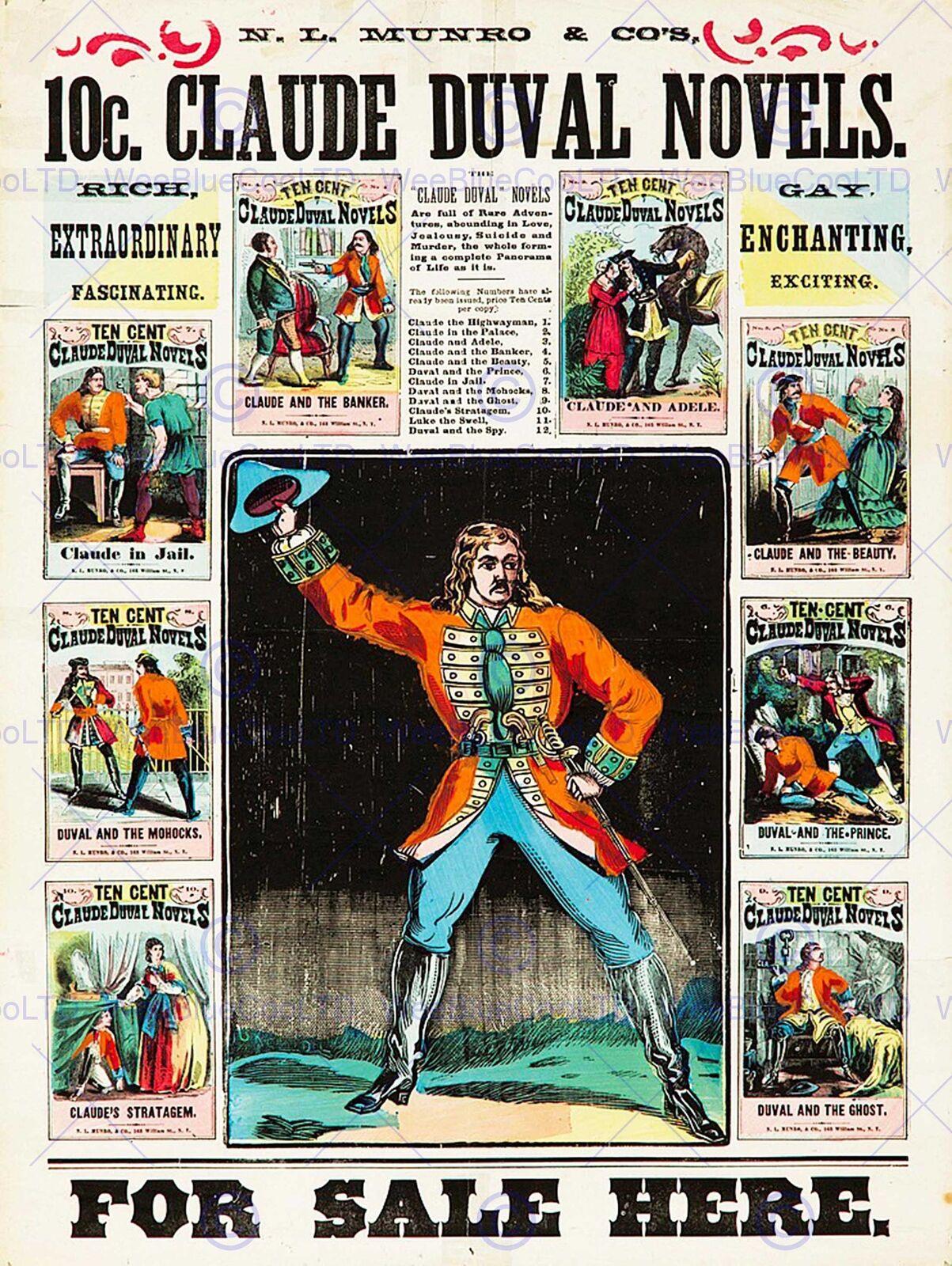 ADVERT MAGAZINE CLAUDE DUVAL FRENCH HIGHWAYMAN CELEBRITY LONDON POSTERBB7929B
