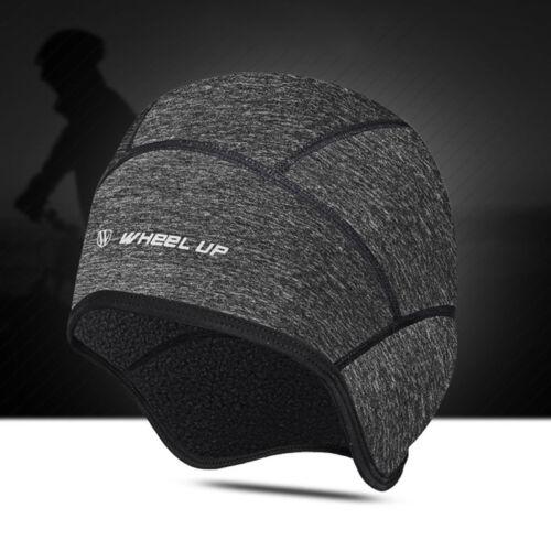 Winddichtes Fleece Thermal Winter Radfahren Fahrrad Schwarz Cap Sports Hat NEU A
