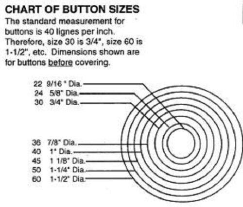 US139 # 60 Button Caps Shells Button Making 1 Gross 144 pc Upholstery Supplies