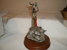 "Pewter Figurine Limited Edition Chilmark:  ""Conjuring Back the Buffalo""   RARE"