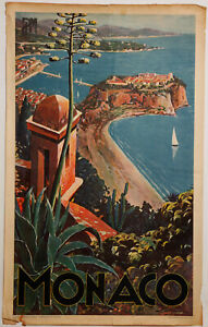 Poster-monaco-plm-e-clerissi-heliochromie-office-national-monegasque-z215