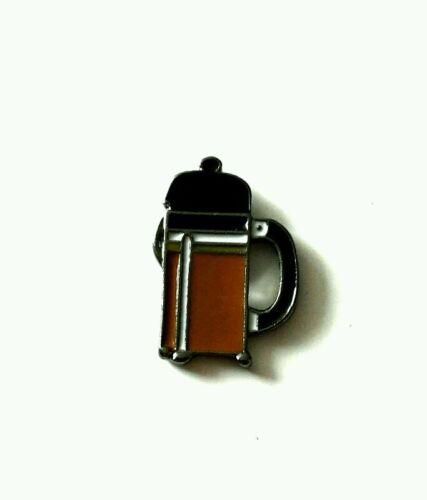 Coffee cafetiere enamel pin badge 20mm