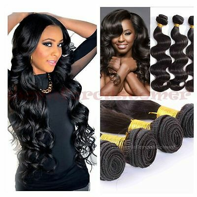 New 100% Remy Brazilian Body Wave Virgin Human Hair Weave Extension 1 Bundle 50g