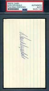 Don-Drysdale-PSA-DNA-Coa-Autograph-Hand-Signed-3x5-Index-Card