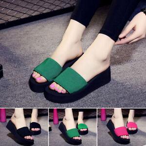 Women-Wedge-Thick-Slippers-Flip-Flops-Platform-Thong-Sandals-Beach-Summer-Shoes