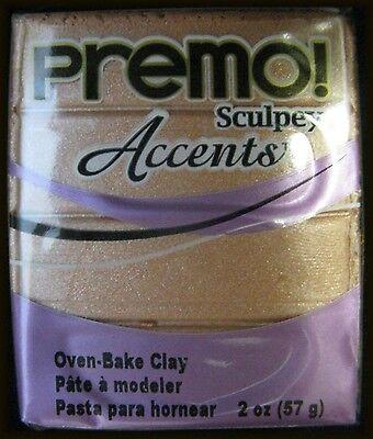 Sculpey PREMO & PREMO Accents - Oven Bake Polymer Clay - 57gm Blocks - 1 Block