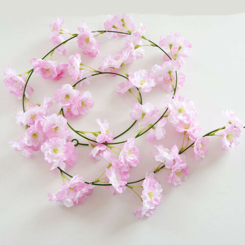 2m Cherry Blossom Vine Artifical Fake Sakura Vines Wedding Party DIY Home Decor