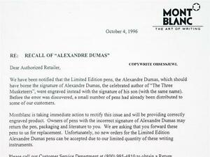 Rare montblanc 1996 limited edition alexander dumas copy of recall image is loading rare montblanc 1996 limited edition alexander dumas copy thecheapjerseys Gallery