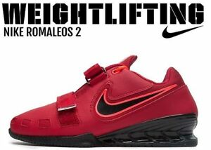 privado intimidad Escándalo  NIKE Romaleos 2 Weightlifting Powerlifting Shoes Gewichtheberschuhe Red |  eBay
