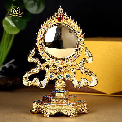 Tibetan Buddhism quasi-mentioned mirror exorcise evil spirits artifact |  eBay