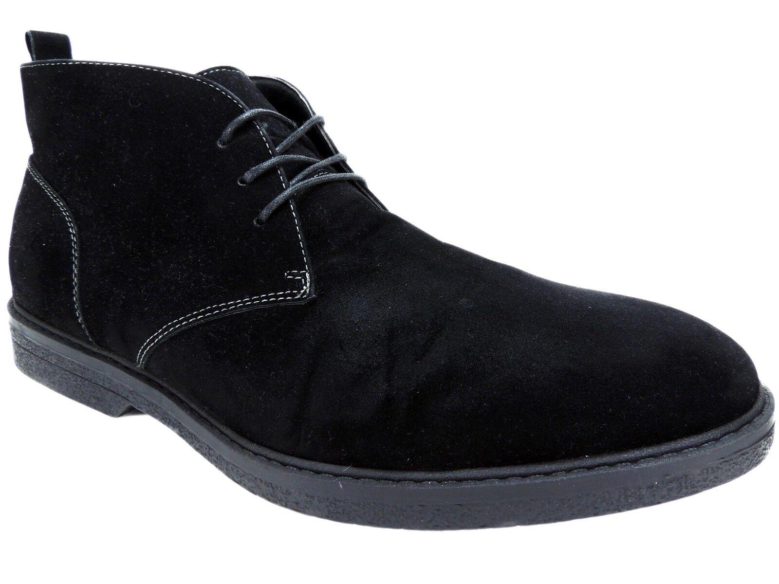 Alfani Men's Tripp Chukka Boots Black PU Suede Size 13 M