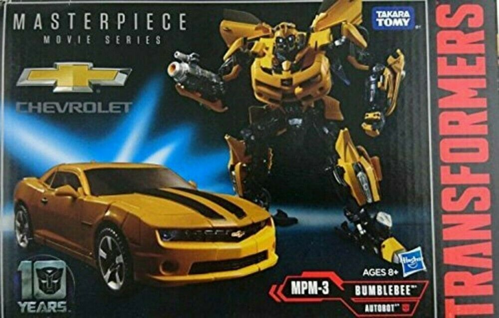 Película Transformers MPM-03 10th aniversario figura Bumblebee Haspro 0630509586103