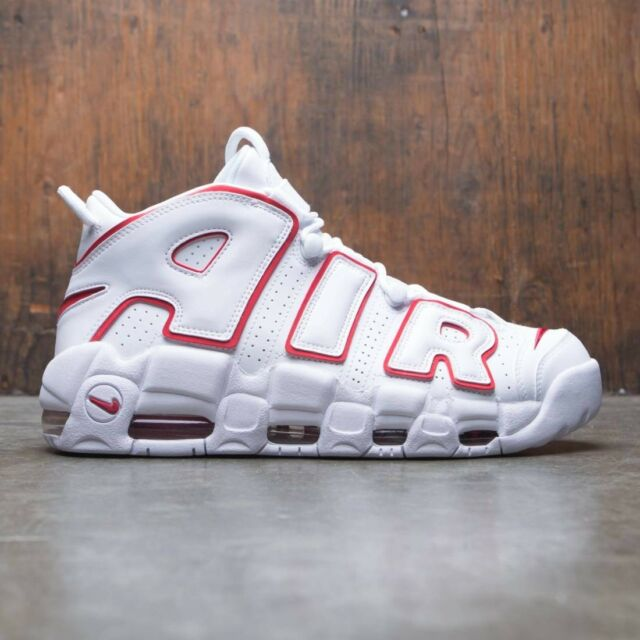 new product 8247c bab5f Nike Air More Uptempo 96 White Varsity Red Size 10. 921948-102 Jordan Pippen
