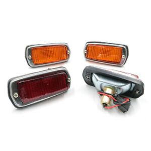 FIT-NISSAN-DATSUN-510-1600-120Y-B210-240Z-FOR-NEW-SIDE-MARKER-LAMP-RED-AMBER-SET