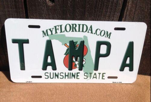 Tampa Florida Sunshine State Novelty License Plate Bar Wall Decor