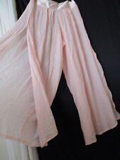 M-L Harem Gypsy Light pink Beach flowing open leg wide leg pale pink Pants Women