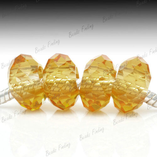 Crystal Large Hole Rondelle Bead Charmed Briolette Beads Charms