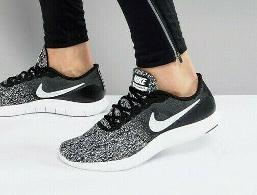 limited guantity catch release info on NIB MENS NIKE FLEX CONTACT FREE BLACK WHITE GYM ATHLETIC TRAINING ...