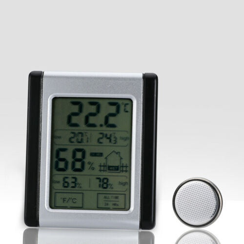 24Hours Digital LCD Indoor Thermometer Hygrometer Temperature Humidity Meter