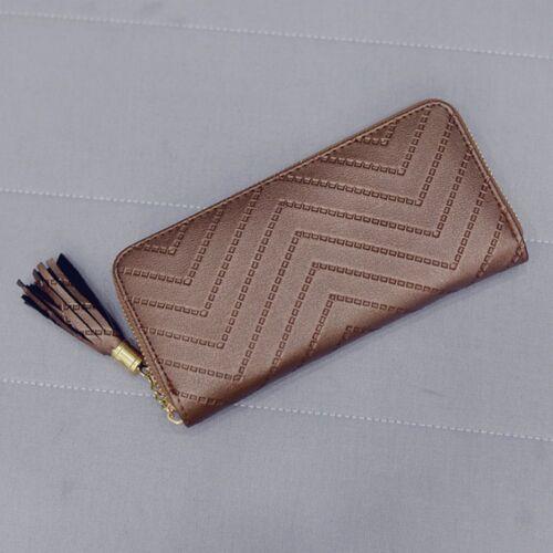 Women Long Tassel High Quality Zipper Card Holder Handbag Purse Wallet