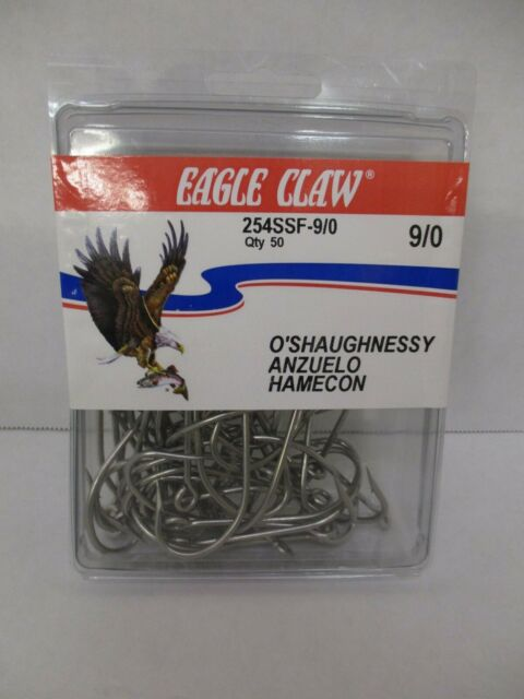 Eagle Claw 254SSA Size 6//0 Stainless Steel Fishing Hooks Qty 5 O/'Shaughnessy
