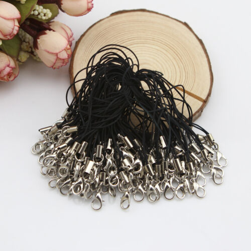 Hot Sale 100Pcs Black Cell Phone Lanyard Cords Strap Lariat Mobile Lobster Clasp