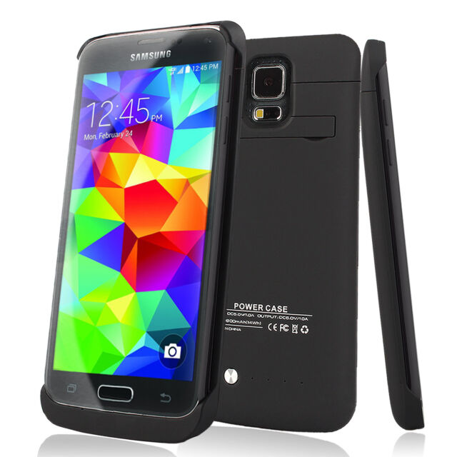 reputable site fff8a f8fef 3800mAh External power bank Charger pack back battery case for Samsung  Galaxy S5