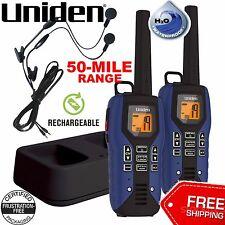 UNIDEN Long Range Waterproof Rechargeable Two Way Radio Walkie Talkies 50 MILE 2