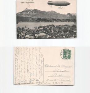 (n15052) carte postale Dirigeable Ville de LUCERNE 1910 de garant étage N-afficher le titre d`origine g8htteS8-07154359-634717650
