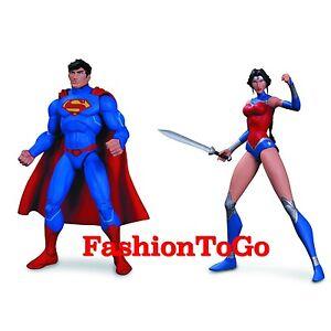 Justice League War Superman et Wonder Woman Af Action Figure Dc Comics