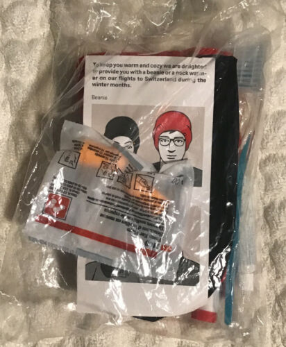 Swiss international airlines Sealed Clear Bag Amenity Kit.