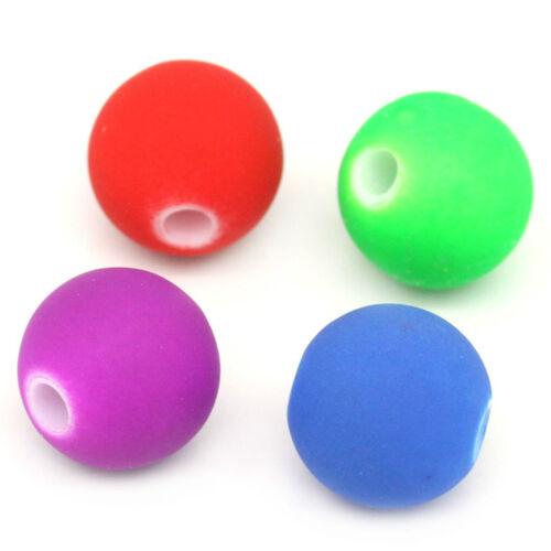 10 perles acrylique fluo couleurs Bijoux Bricolage avec neonfarbene acrylique perles neonfarbe