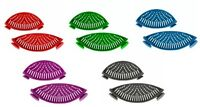 Silicone Pot And Pan Strainers With Clips Set Of 2 Various Colors Brand