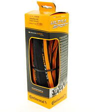 Continental Ultra Sport 2 Road Bike Tire, Orange/Black, 700x23, Folding