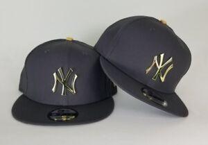 255c0092 New Era Dark Grey New York Yankee Gold Metal Badge Logo 9Fifty ...