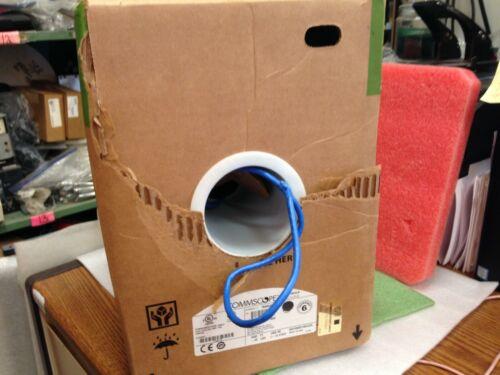 1000/' Commscope 1071E 23 AWG 4 PAIR Solid CMR Cat-6 Copper Cable Box  **ma34s
