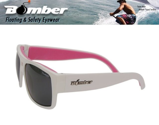 8c9913d305 Bomber Floating IRIE Sunglasses White Polarized Lens Pink Womens Girls  Surfing