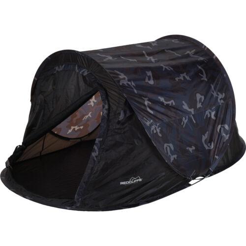 REDCLIFFS Wurfzelt Pop-up-Zelt 2 Mann-Zelt Campingzelt Outdoor CAMOUFLAGE Zelten