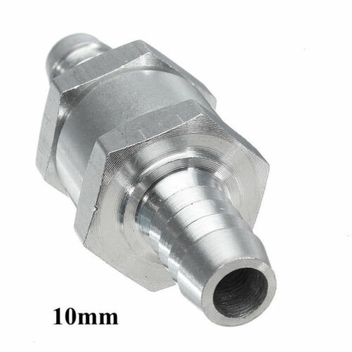 Non Return Check One Way Valve Rollover Breather Fuel Aluminium 6//8//10//12mm New